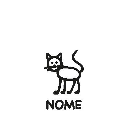 animali a bordo adesivo gatto