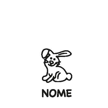 animali a bordo adesivo coniglio