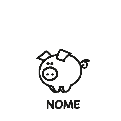 animali a bordo adesivo maialino