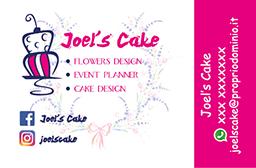 Biglietto da visita per pasticcerie cake design baby sitter articoli da regalo
